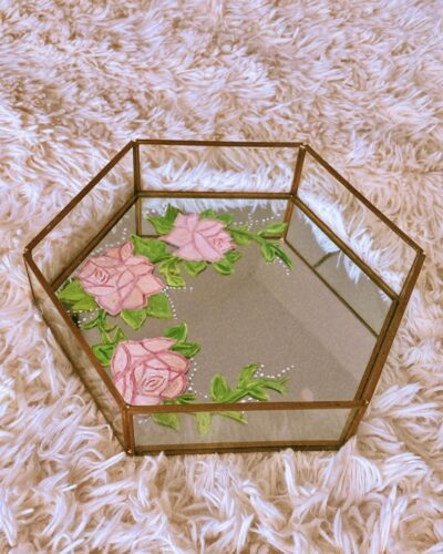 Anna - DIY Floral Art Design on Jewelry Tray 1