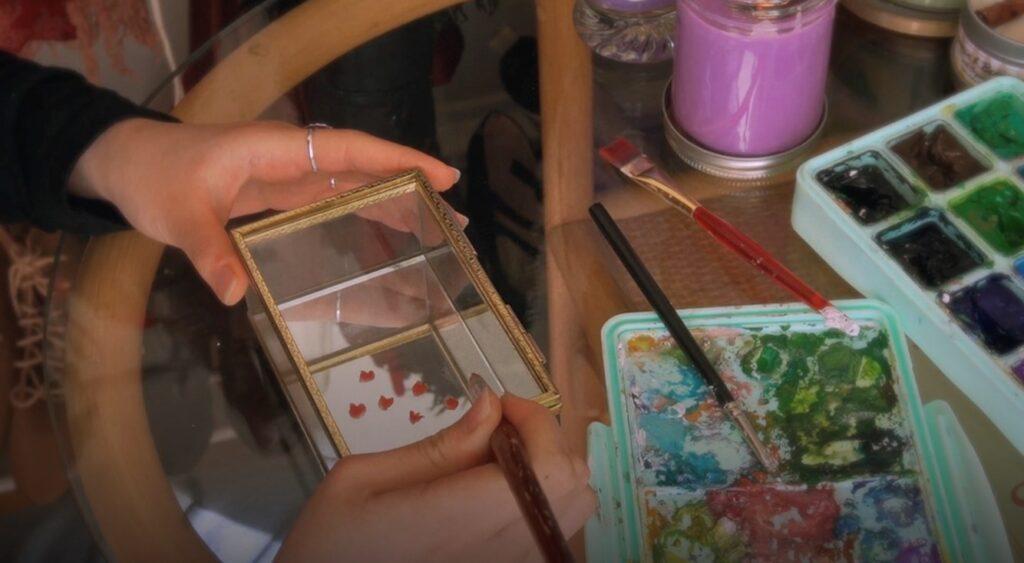 Projet pour fête des mères : de décoration florale et printanière d'un coffret à bijoux 3