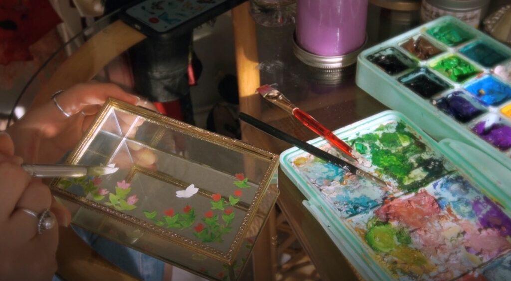 Projet pour fête des mères : de décoration florale et printanière d'un coffret à bijoux 5